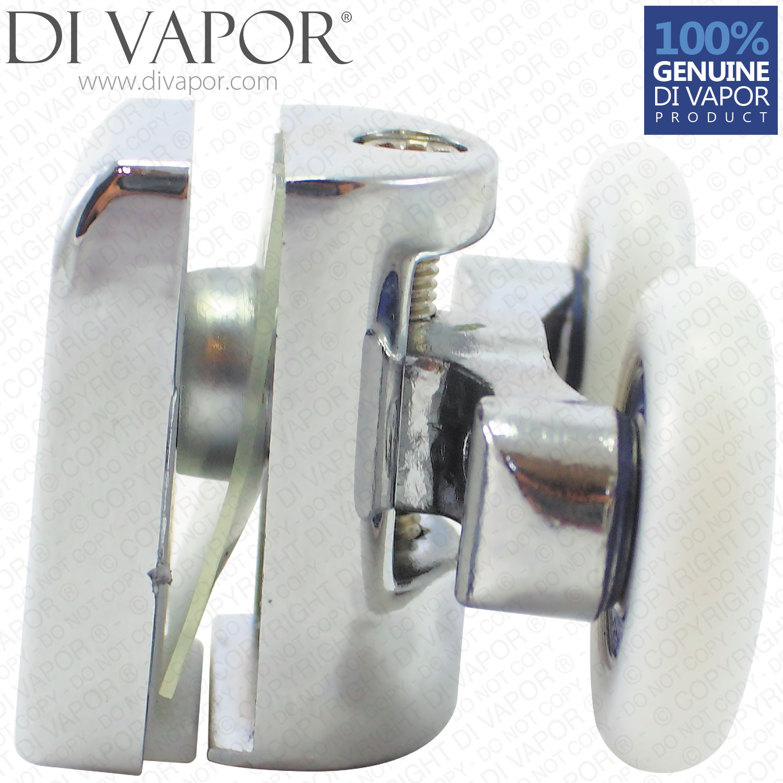 Di Vapor R Fixed Quadrant Shower Door Double Roller 6mm