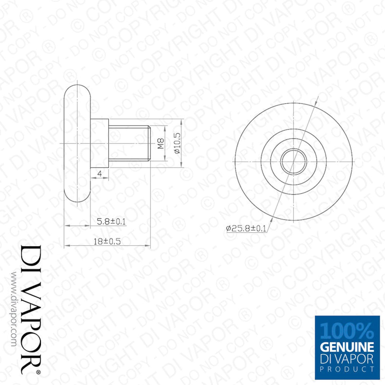 26mm Shower Sliding Door Wheel Replacement Rollers Nylon