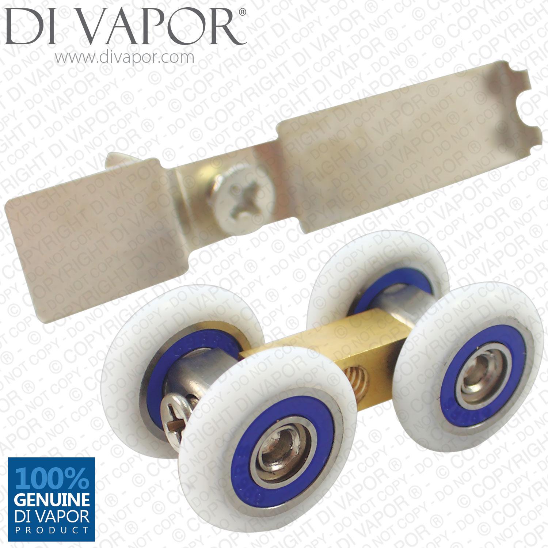 Di Vapor R 21mm Four Wheeled Roller For Glass Door Four