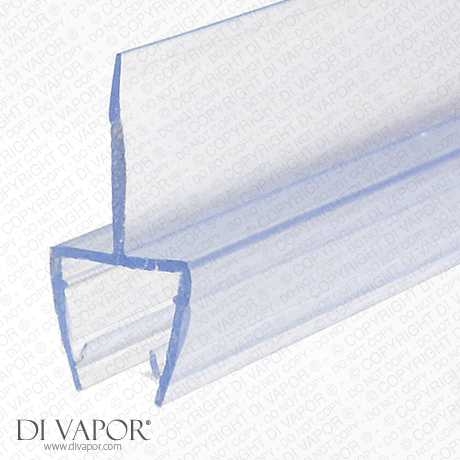 Shower Screen Glass Seal | 10mm Glass | 16mm Central Fin | 200cm/85cm