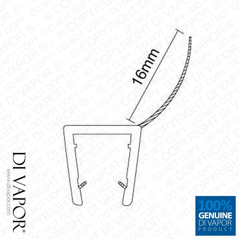 di vapor r t r dusche scheibe dichtung 4 6mm 8mm 10mm glas. Black Bedroom Furniture Sets. Home Design Ideas