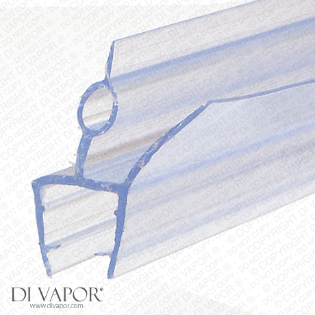 Double Fin Shower Seal | 4-6mm/8mm/10mm Glass | 14mm Fins | 85cm/200cm Length