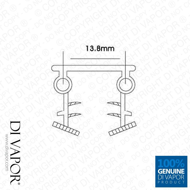 Shower Glass Seal | 8mm Glass | 85cm/200cm