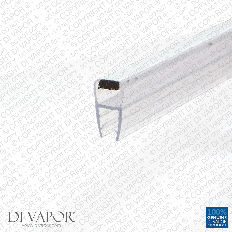 Magnetic Shower Door Seal 4 6mm 8mm 10mm Glass 85cm 2m