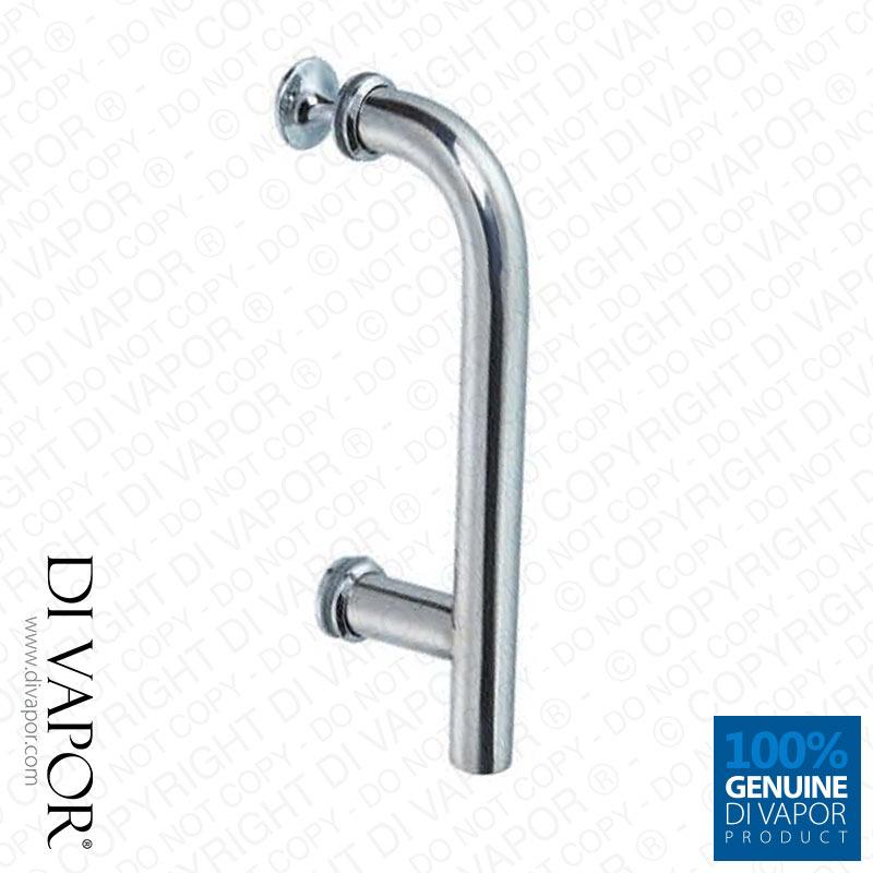 chrome shower door handle 145mm