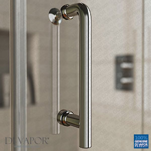 Chrome Shower Door Handle | 145mm (14.5cm) Hole to Hole