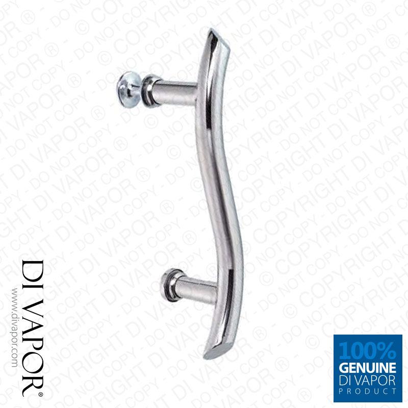 Di vapor r 145mm wavy shower door handle hole for Bathroom door parts