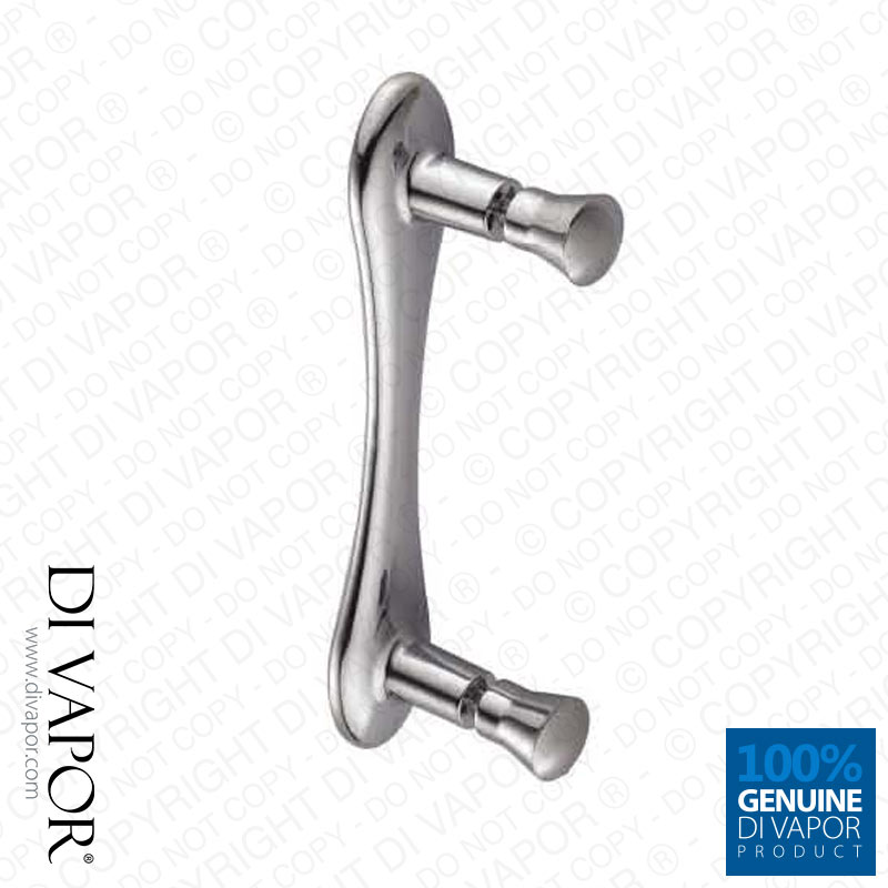 Plastic Shower Door Handle | 145mm (14.5cm) Hole to Hole