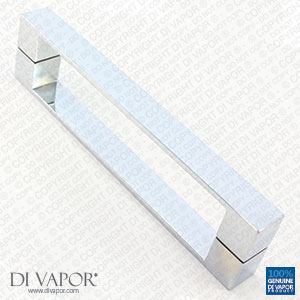192mm Solid Stainless Steel Shower Door Handle | 19.2cm Hole to Hole