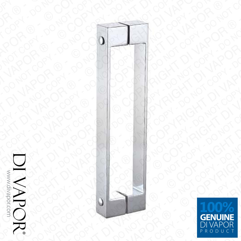 160mm Solid Stainless Steel Shower Door Handle 16cm Hole