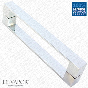 160mm Solid Stainless Steel Shower Door Handle | 16cm Hole to Hole