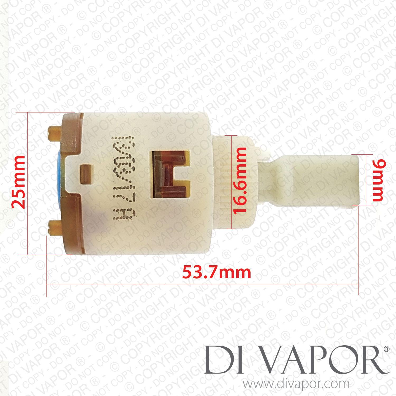 25mm Single Lever Mixer Basin Sink Ceramic Tap Cartridge