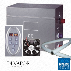 6kW Steam Room or Shower Kit | Steam Generator 220V | Control panel | 1 Metre Steam Pipe