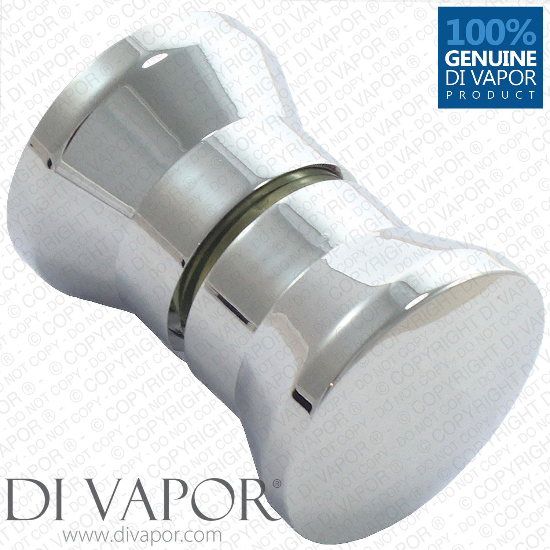 Shower Door Knob For Aquafloe Showers Metal Chrome