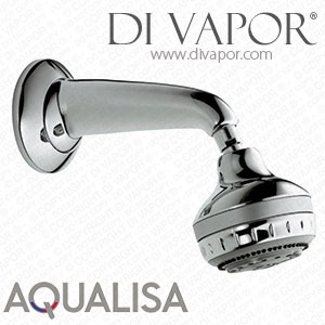 Aqualisa Turbostream Fixed Shower Head & Arm - Chrome - 99.30.01
