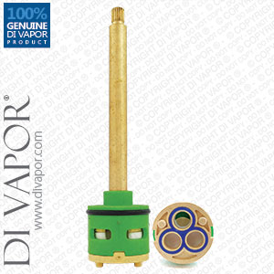 138mm 3-Way Diverter Valve Cartridge 33mm Barrel Diameter with 101mm Spindle