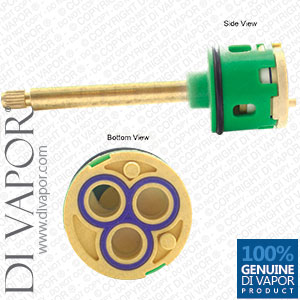 80mm 3-Way Diverter Valve Cartridge 33mm Barrel Diameter with 43mm Spindle