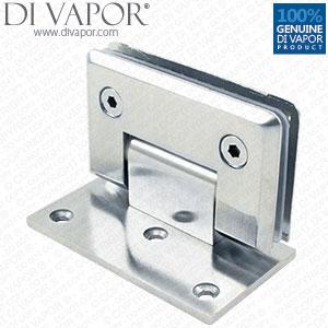 90 degree glass door hinge bracket light satin nickel finish zinc alloy