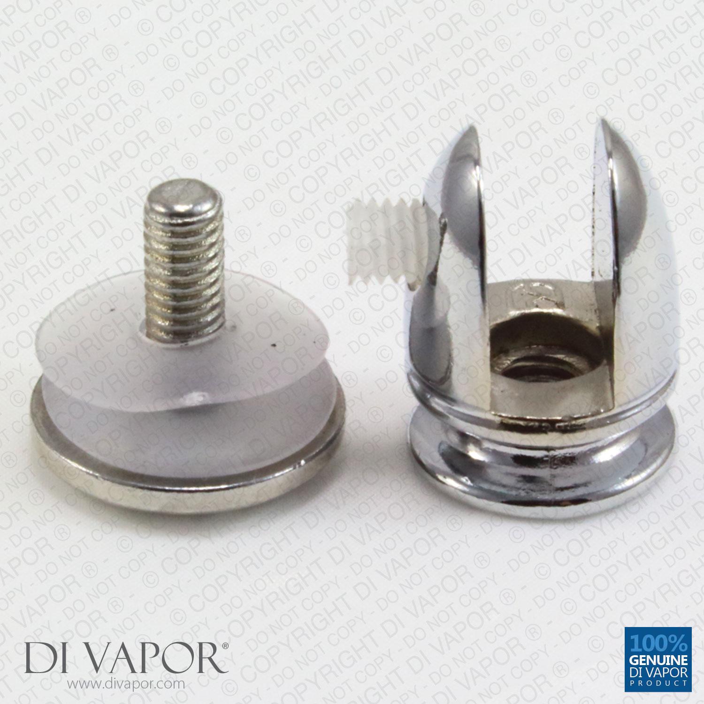 Floating Glass Shelf Bracket Clamp Clip Mm To Mm Glass