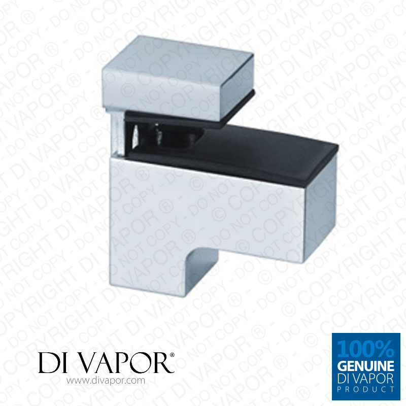 floating glass shelf bracket clamp clip mirror chrome finish. Black Bedroom Furniture Sets. Home Design Ideas