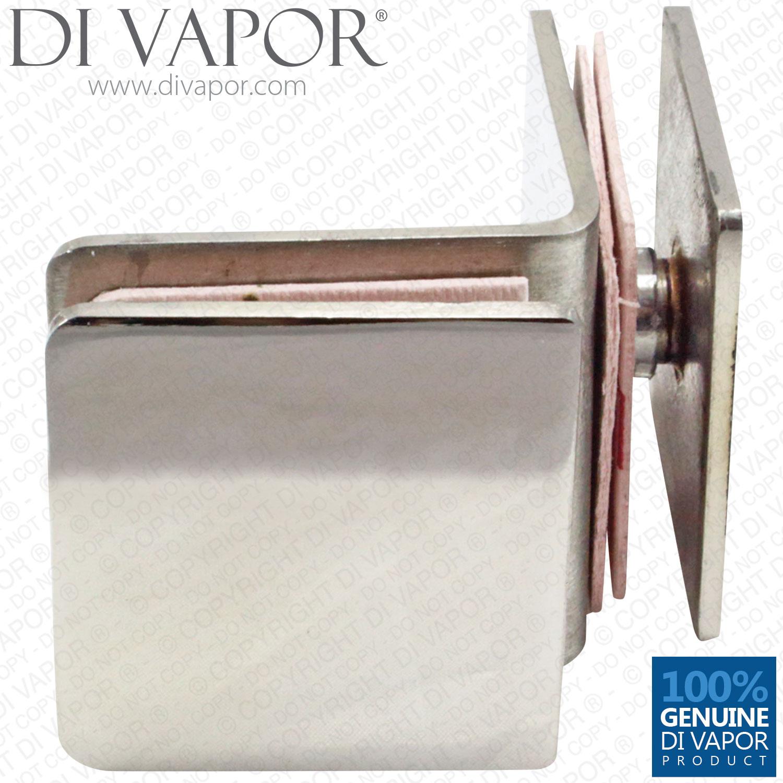 Di Vapor 90 Degree Stainless Steel Glass To Glass Corner