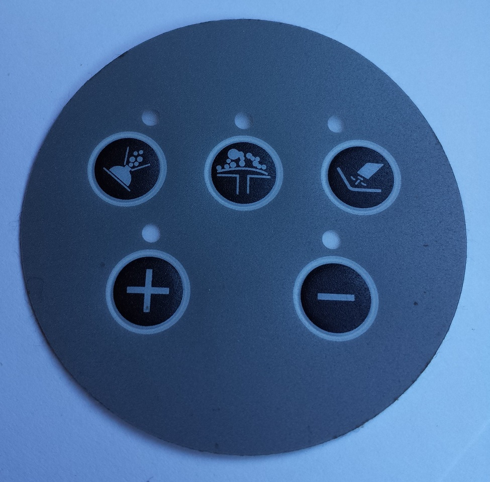 Circular Whirlpool Bath Control Panel Cover