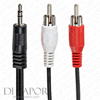 Di Vapor Universal RCA Phono Stereo to 3.5mm Jack connector - Suitable for all Di Vapor steam shower