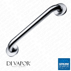 Grab Bar Handle Rail | Disabled and Elderly | 35cm Hole to Hole | Brushed Stainless Steel