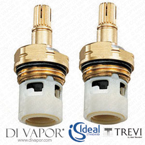 E002467 Pair of Ideal Standard / Trevi 1/2 Inch On/Off Ceramic Disc Flow Cartridge for Taps and Shower Valves