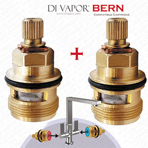 Franke Bern Valve ALX42 Pair of Tap Cartridges (Hot & Cold)