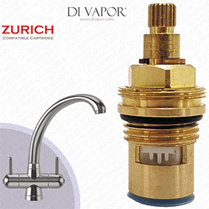 Franke Zurich SP3819-C / 1212R-C / 3819R-C Cold Kitchen Tap Valve - 20 Teeth Spline - 133.0440.351, 133.0069.959 & 133.0358.057 Compatible Cartridge