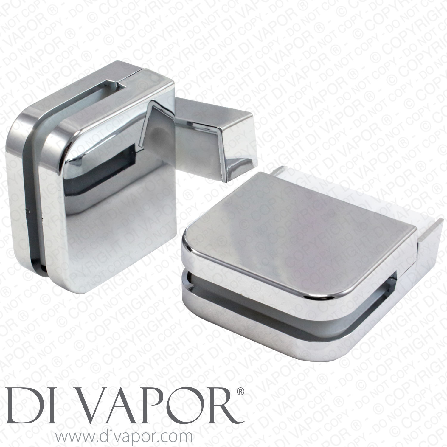 plastic glass shower door pivot hinge for 6mm glass clamp pack of 2
