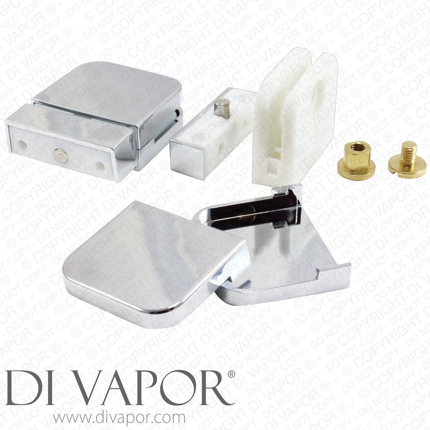 Glass Shower Door Hinges : Plastic glass shower door pivot hinge for mm clamp