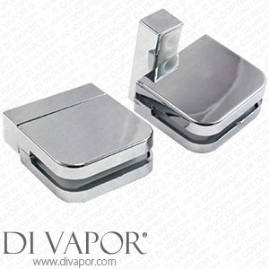 Plastic Glass Shower Door Pivot Hinge for 6mm Glass Clamp (Pack of 2 Hinges)