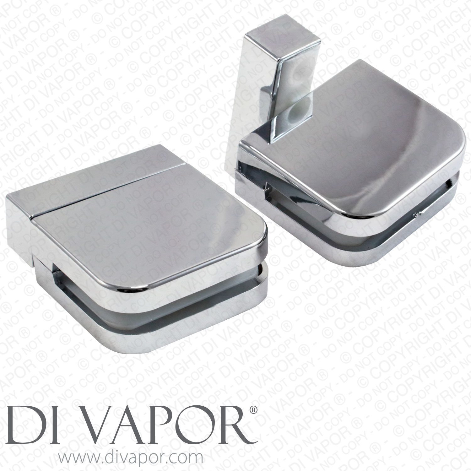 Plastic Glass Shower Door Pivot Hinge For 6mm Glass Clamp