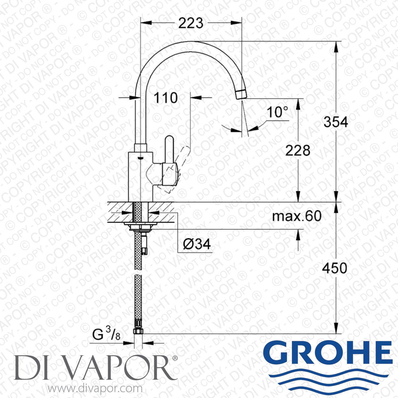 grohe 32843000 eurosmart cosmopolitan single lever mixer. Black Bedroom Furniture Sets. Home Design Ideas