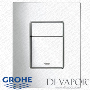 GROHE 38732000 Flush Plate - Skate Cosmopolitan Dual Flush Vertical WC Wall Plate