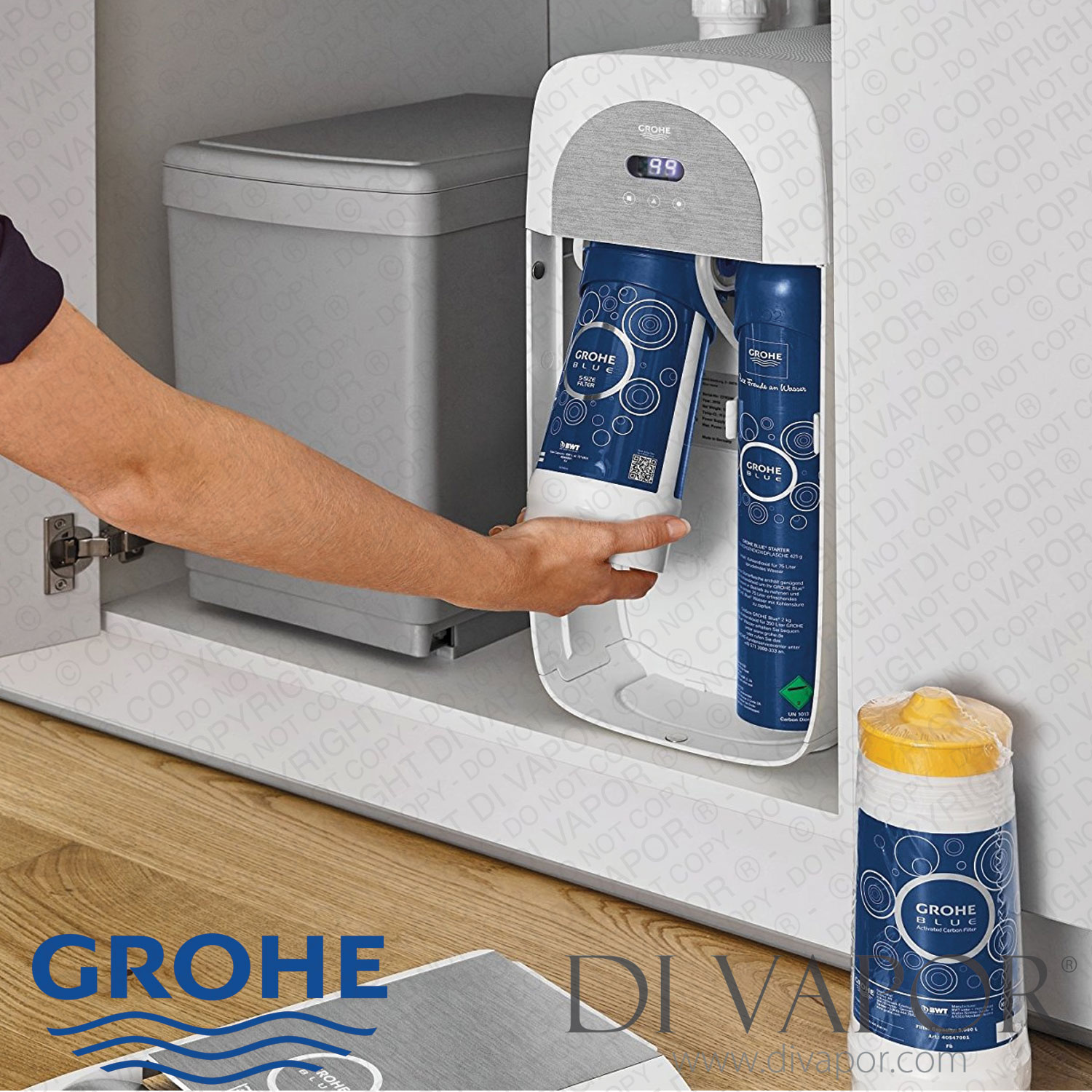 grohe 40404001 blue replacement water filter small 600 litre. Black Bedroom Furniture Sets. Home Design Ideas