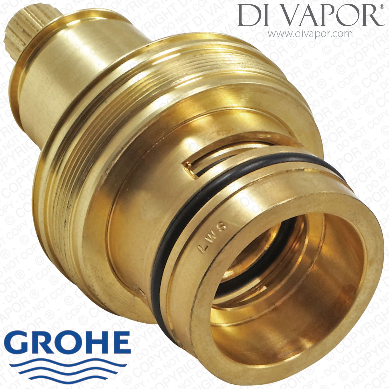 grohe 47600000 thermostatic cartridge with shuttle piston and wax
