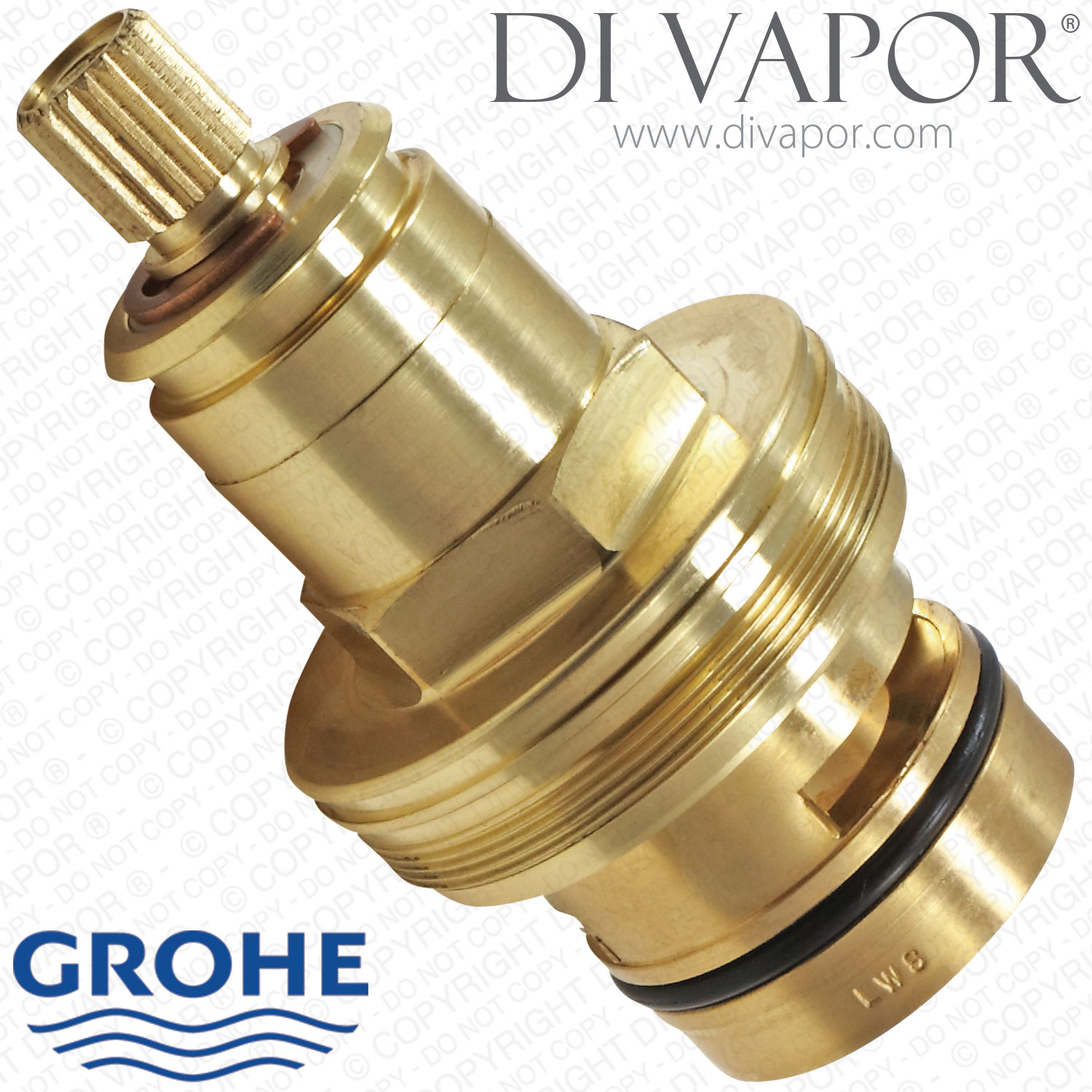 grohe 47600000 thermostatic cartridge with wax thermostat element for