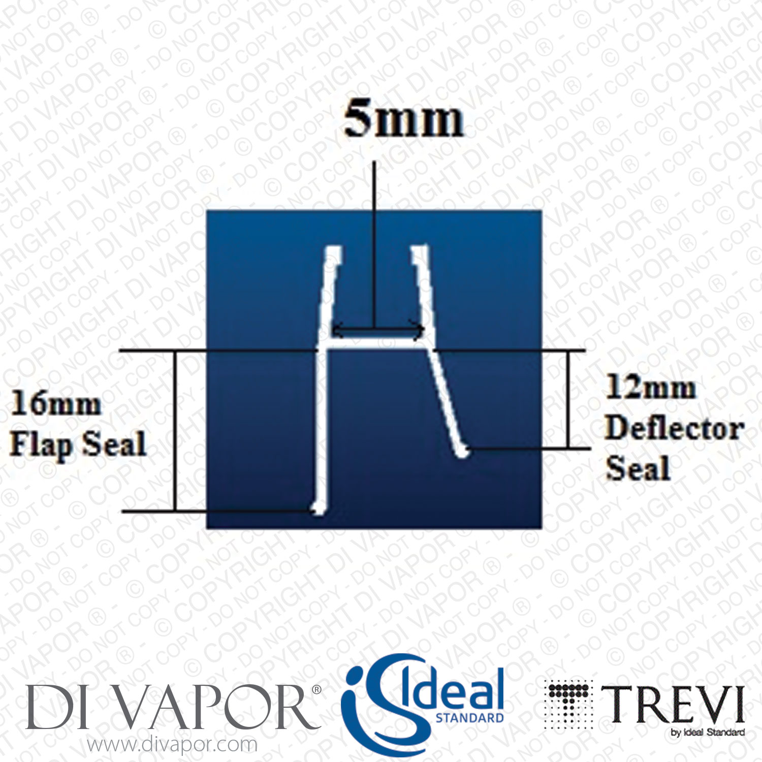Ideal Standard Lv95667 16mm Shower Enclosure And Screen Seal