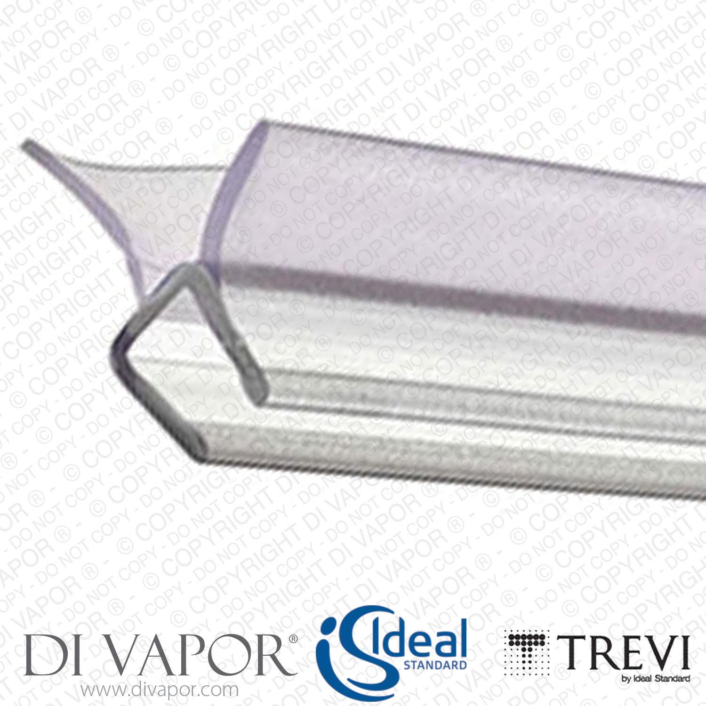 ideal standard lv95667 16mm shower enclosure and screen seal. Black Bedroom Furniture Sets. Home Design Ideas