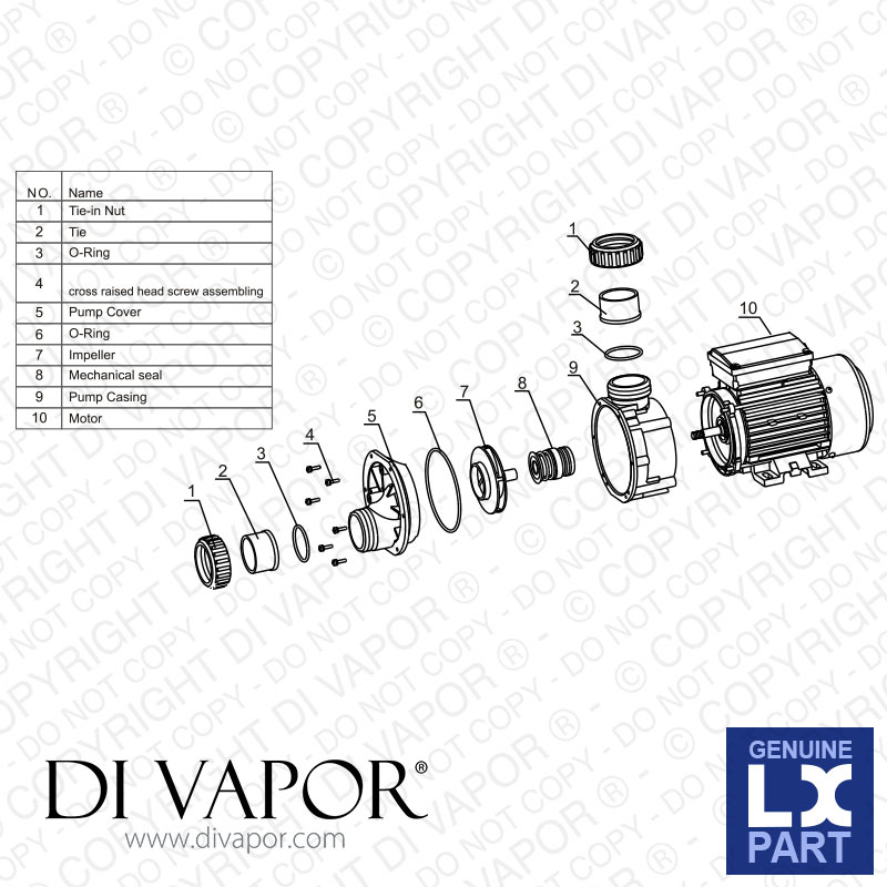 lx dh1 0 pump 1 hp
