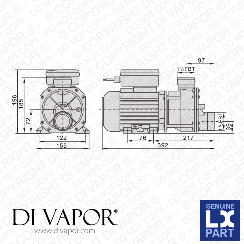lx ea whirlpool bath hot tub pump technical diagram lx ea350 pump 1 hp hot tub spa whirlpool bath water circulation pump
