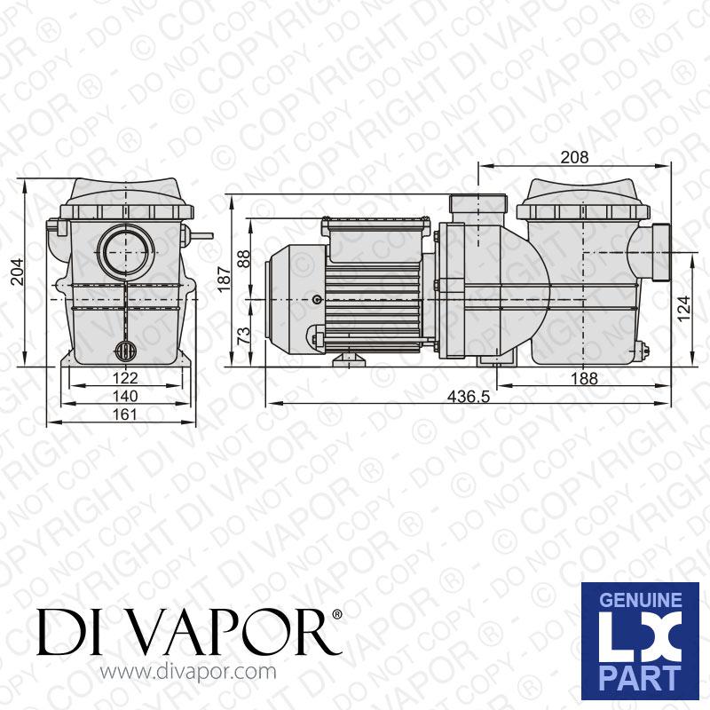 Lx Smp150 Pompe 1 5 Hp Piscine Pompe 220v 50hz 5 0