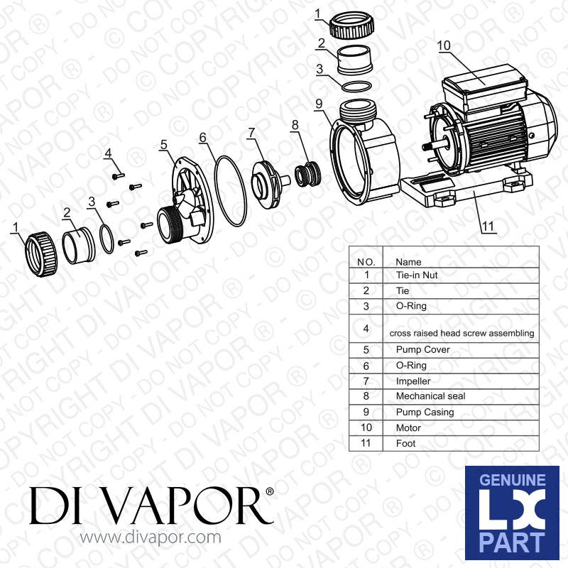 Spa Circulation Pump Parts Diagram Wiring Diagram Tutorial