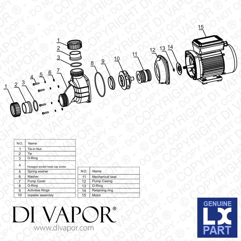 LX WPP100 Pump 1 HP | Hot Tub | Spa | Whirlpool Bath | Water ...