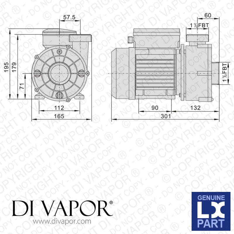 lx wtc50m pompe jacuzzi spa whirlpool baignoire eau circulation pompe ebay. Black Bedroom Furniture Sets. Home Design Ideas