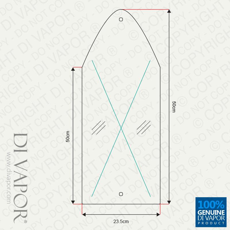 Arch Window Glass Shower Mirror Used On Geneva S Dv015