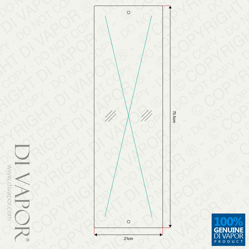 Long rectangular glass shower mirror s dv010b x for Long glass mirror